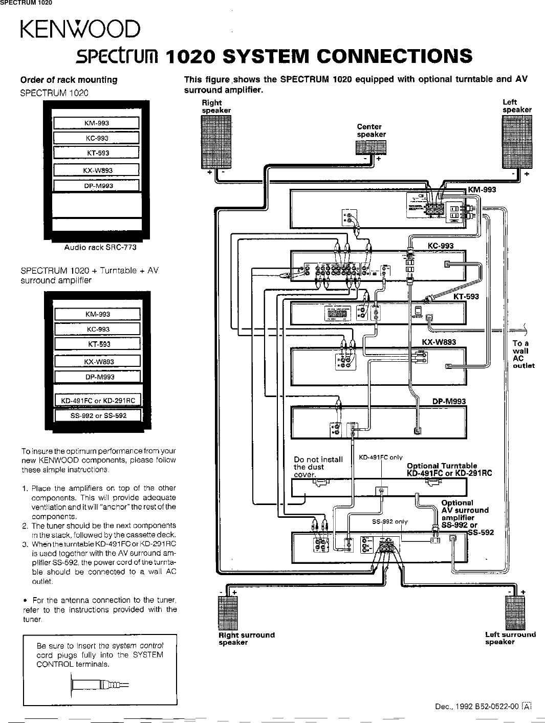 Kenwood Spectrum 1020 Users Manual