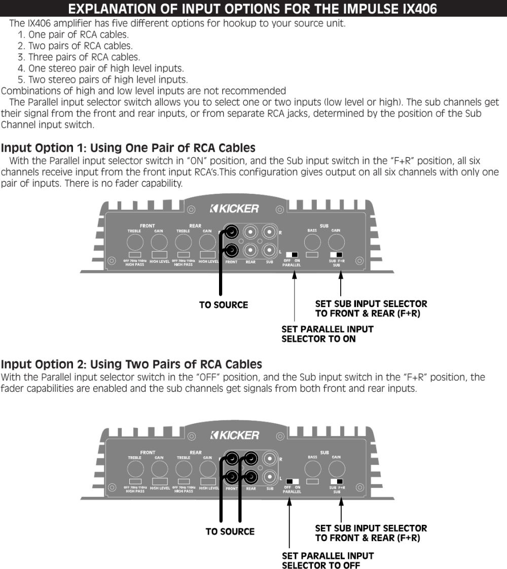 medium resolution of page 3 of 12 kicker kicker impulse six channel amplifier
