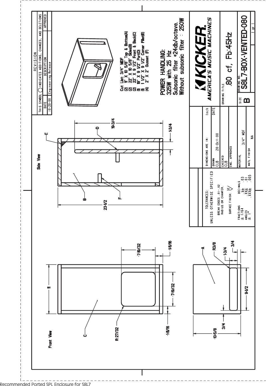Kicker S15l7 S12l7 S10l7 S8l7 User Guide