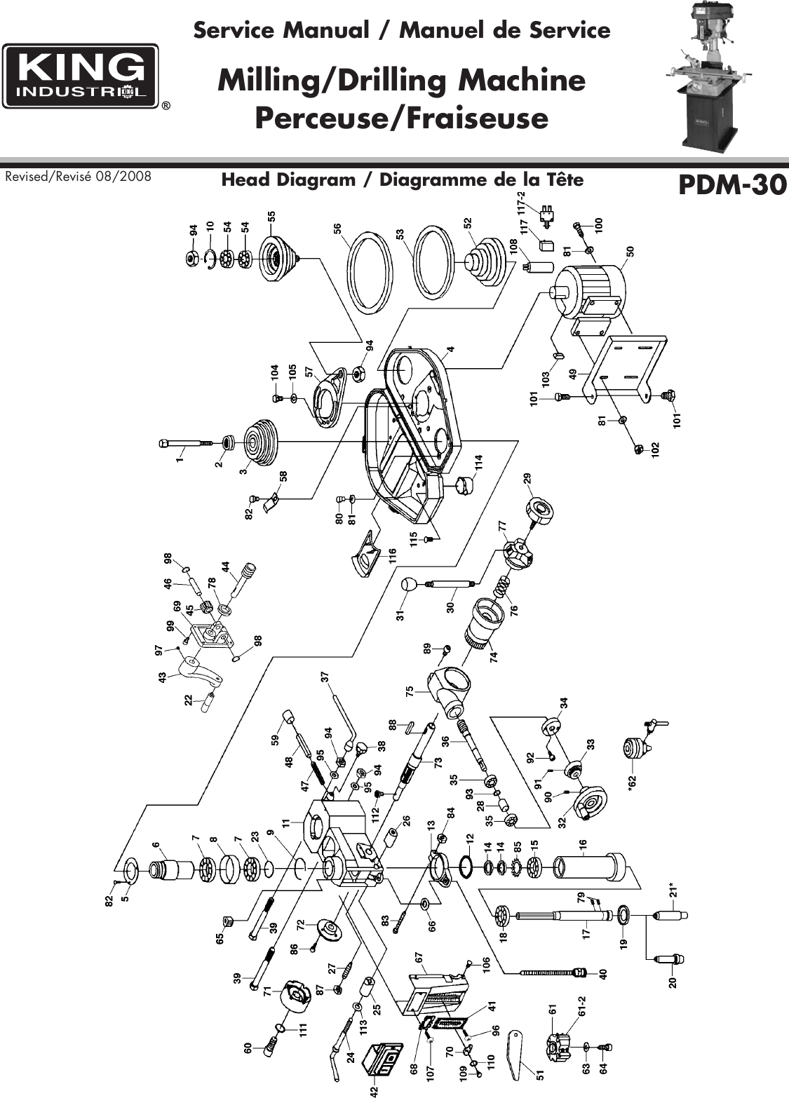 King Canada Pdm 30 Users Manual