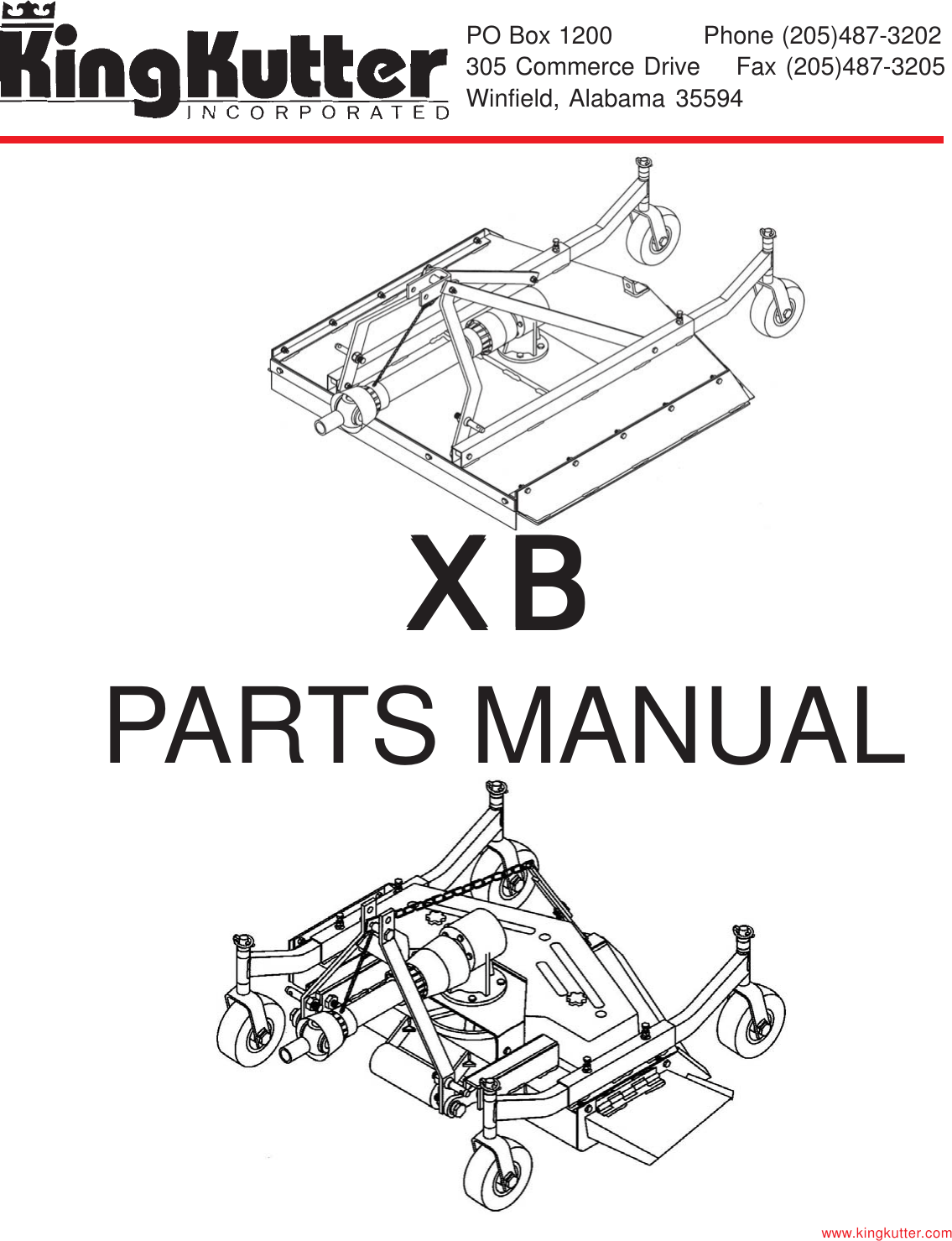 King Kutter Xb Users Manual PARTS