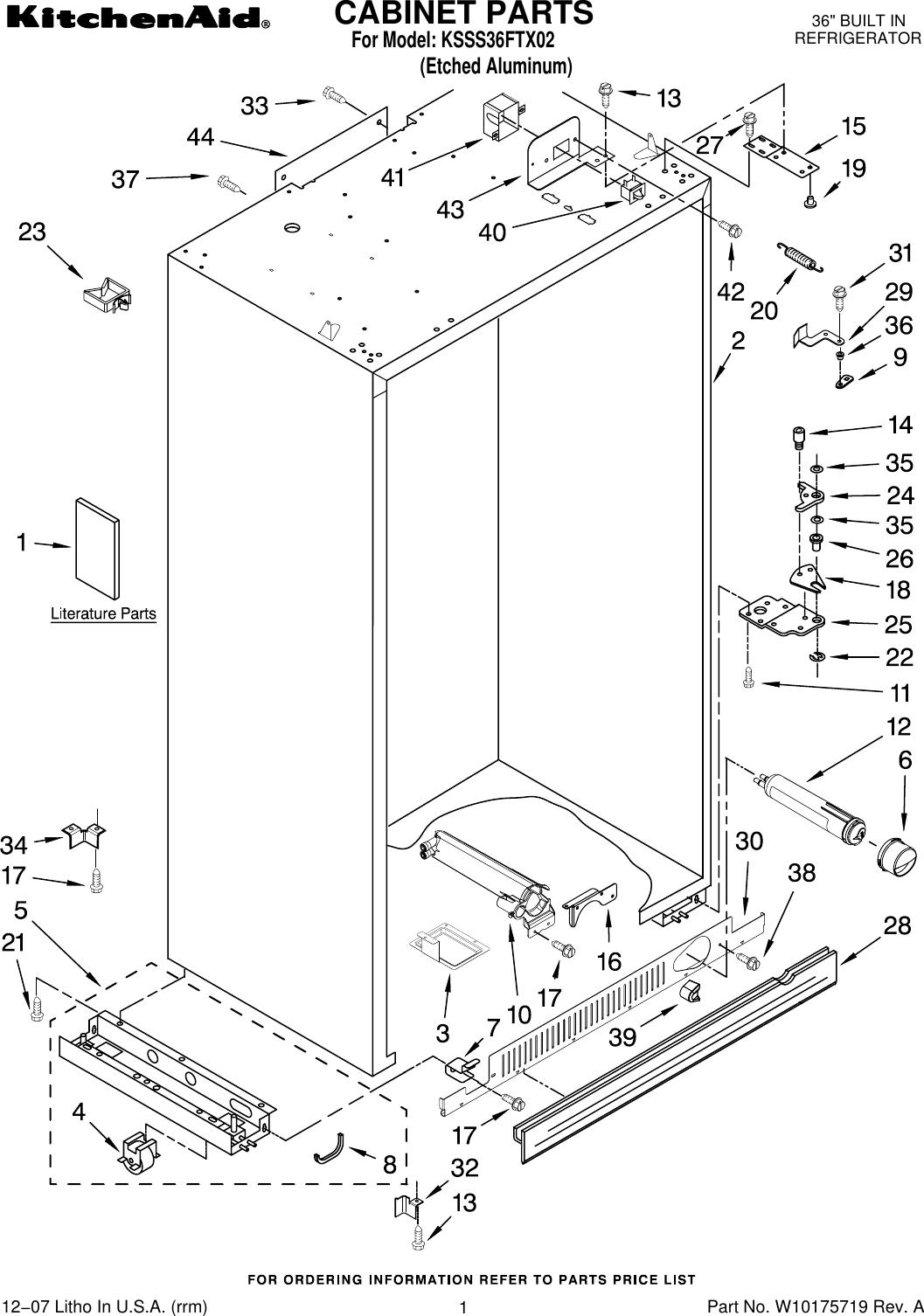 KitchenAid Refrigerator Freezer Shelf Front Part # 2266933