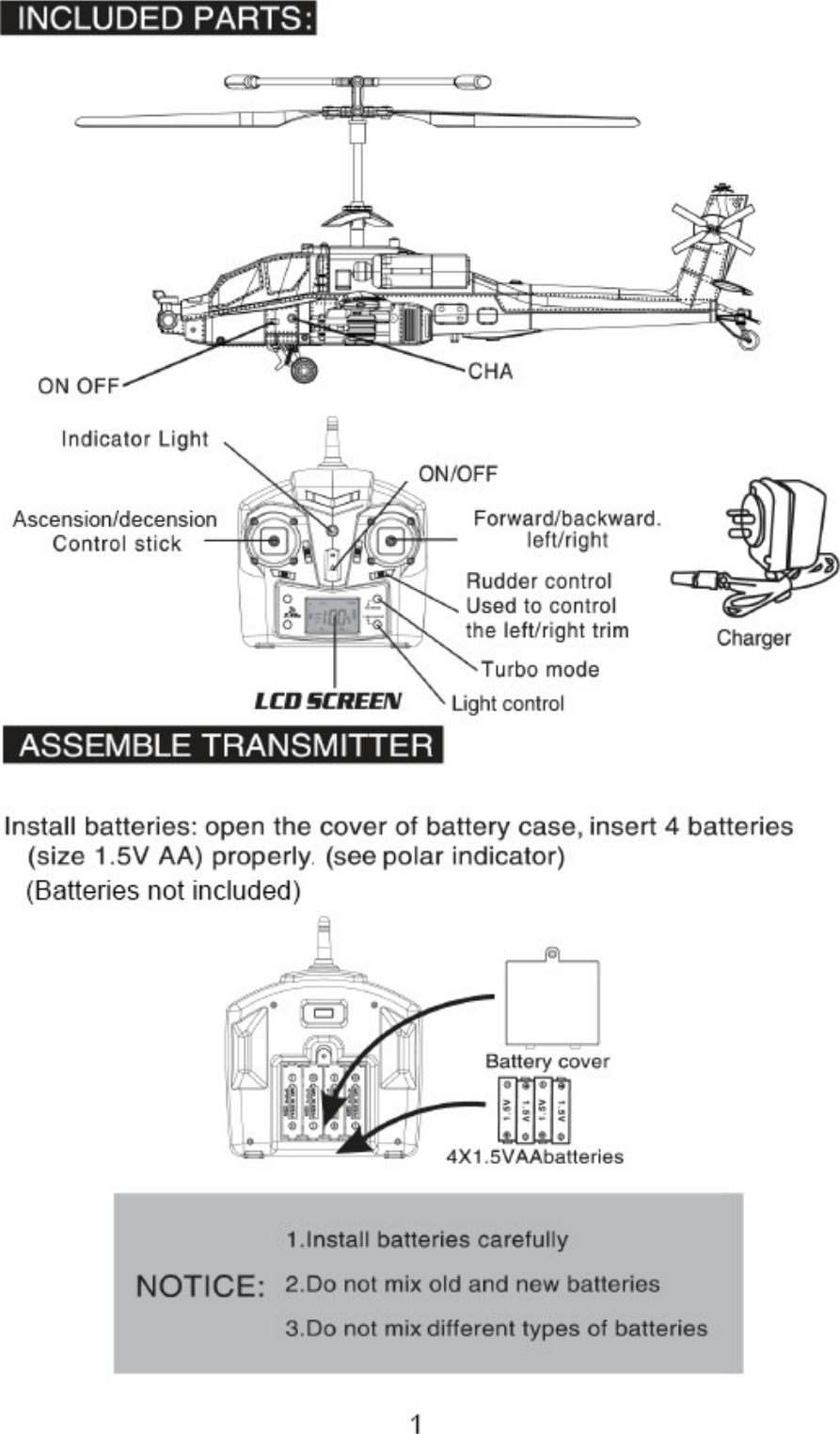 hight resolution of kahelapacha kogan remote control apache gunship helicopter user manual a