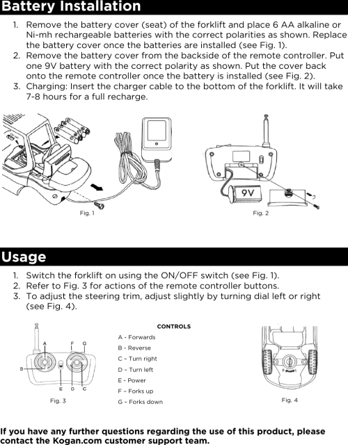 small resolution of page 2 of 2 karctfrklfa remote control forklift user manual karctfrklfa qsg