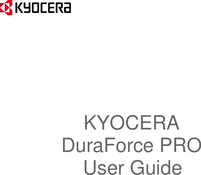Kyocera Manual Dura Force PRO User Guide ATT En