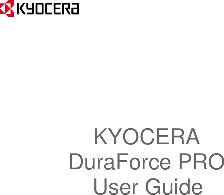 Kyocera E6820 PDA Phone User Manual