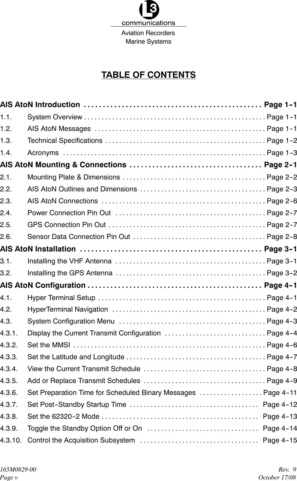 L3 Technologies 0ATN01 Aid to Navigation (AtoN) AIS User