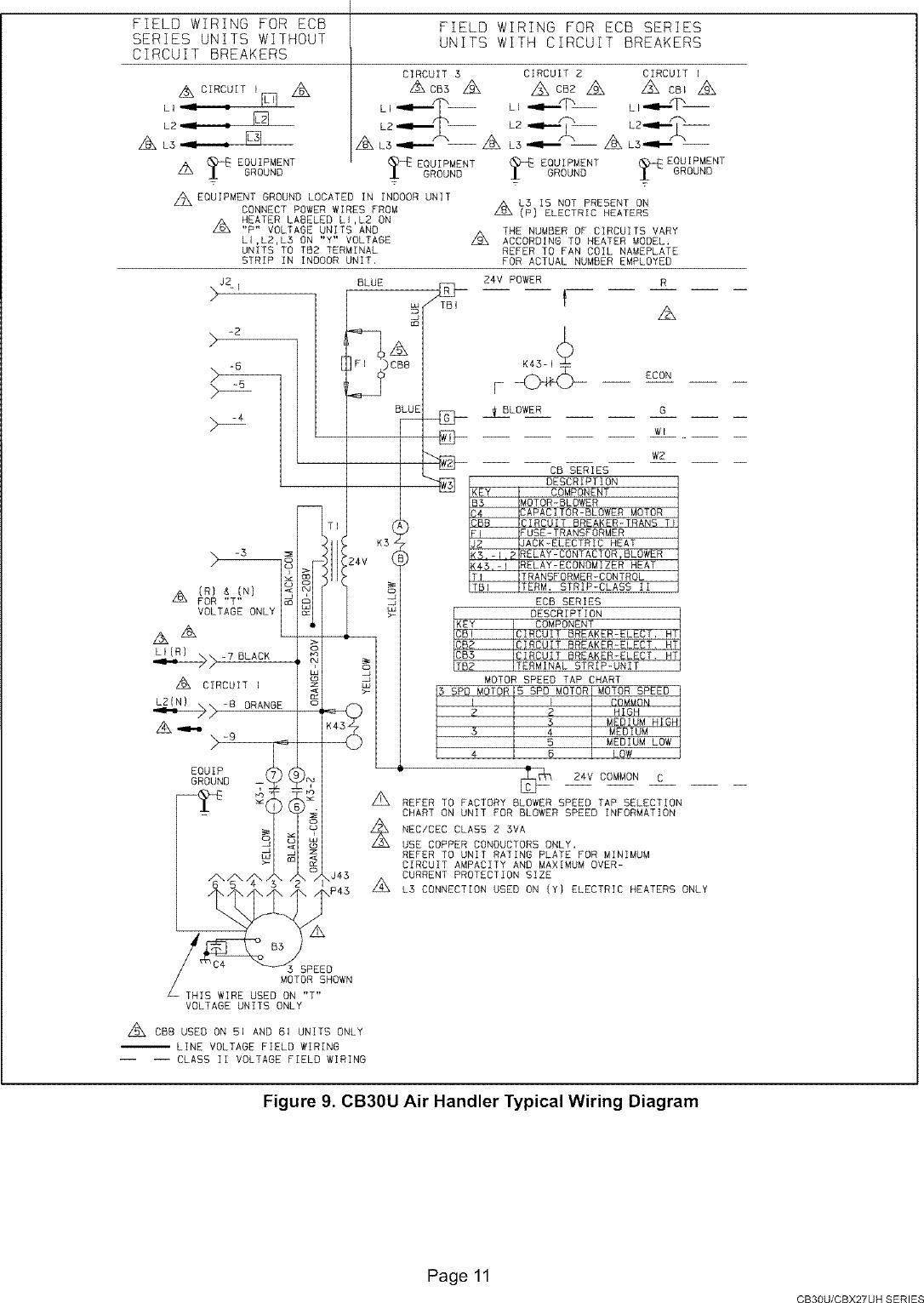 hight resolution of lennox air handler indoor blower u0026evap manual l0805327page 11 of 12 lennox air