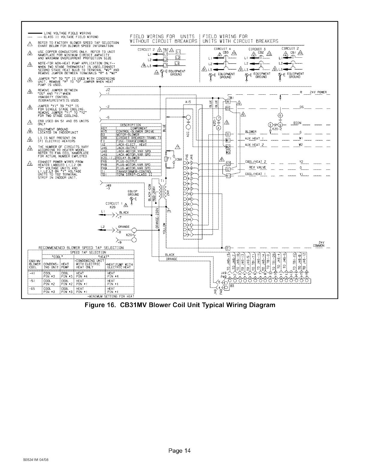 LENNOX Air Handler (indoor Blower&evap) Manual L0805330