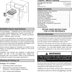 Lennox Wiring Diagram Ignition System Air Handler Auxiliary Heater Kit Manual L0805584