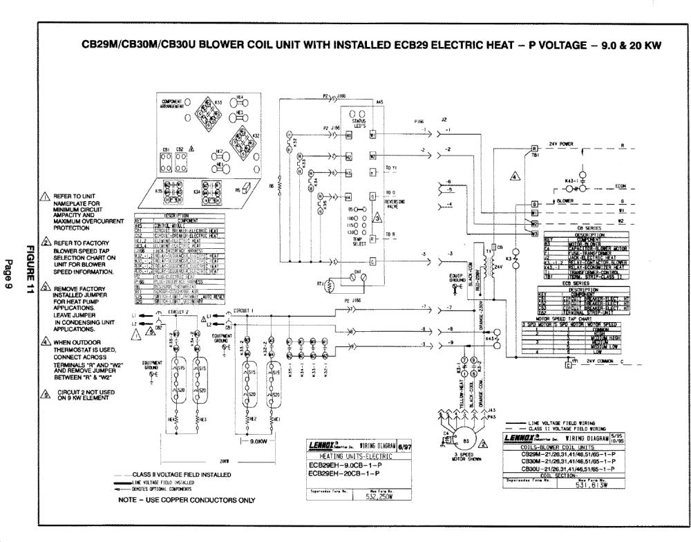 medium resolution of lennox air handler auxiliary heater kit manual l0805584page 9 of 12 lennox air handler auxiliary heater
