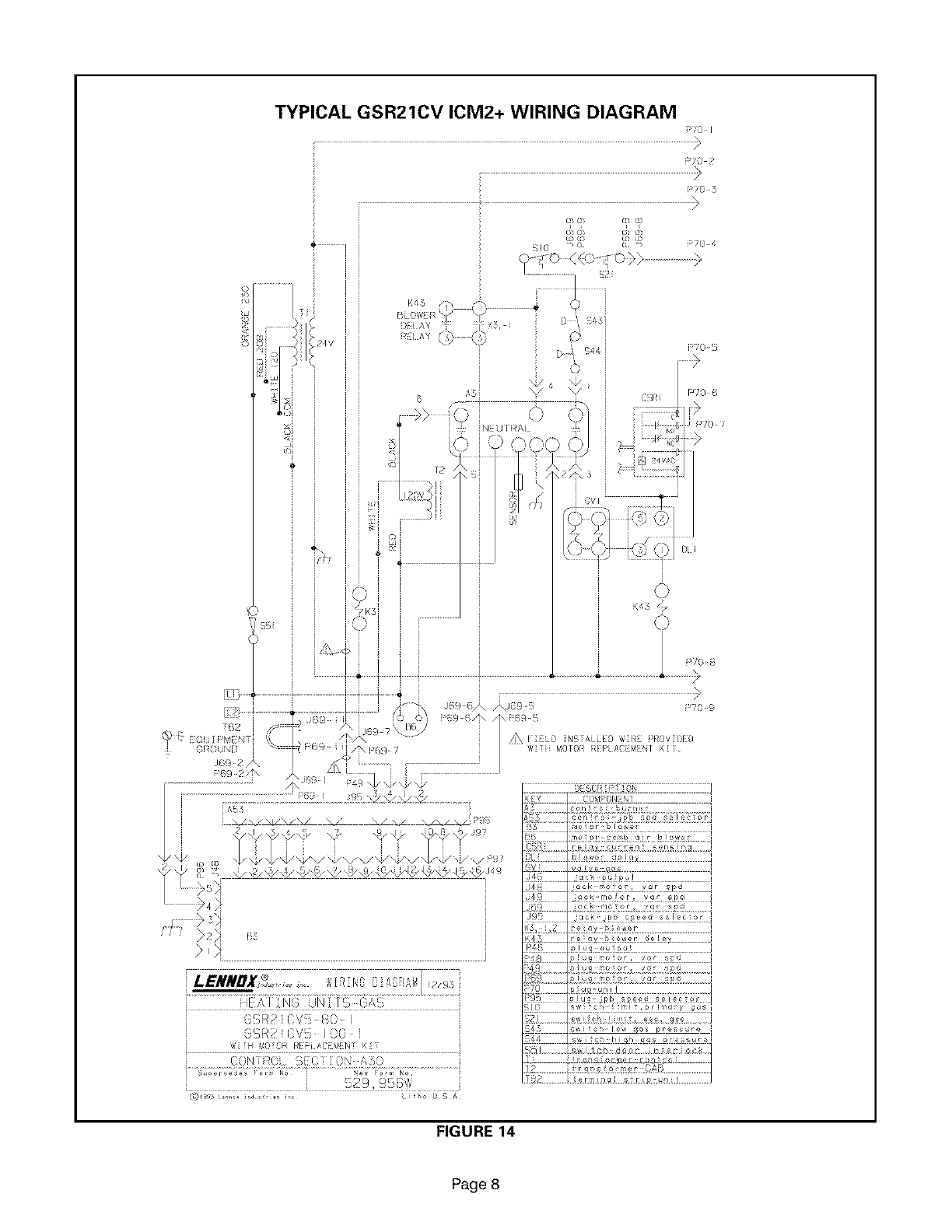 LENNOX Furnace/Heater, Gas Manual L08A6040