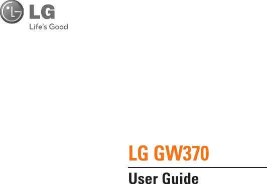 LG Electronics USA GW370 Cellular/PCS GSM/WCDMA/EDGE Phone