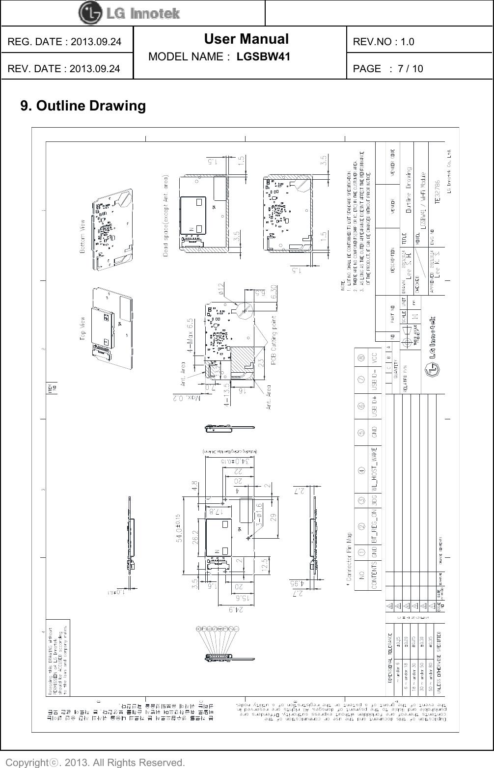 LG Electronics USA LGSBW41 WIFI / BT Combo module User Manual