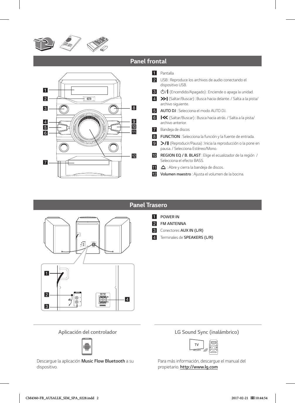 LG CM4360 User Manual Guide FB AUSALLK SIM SPA 0228