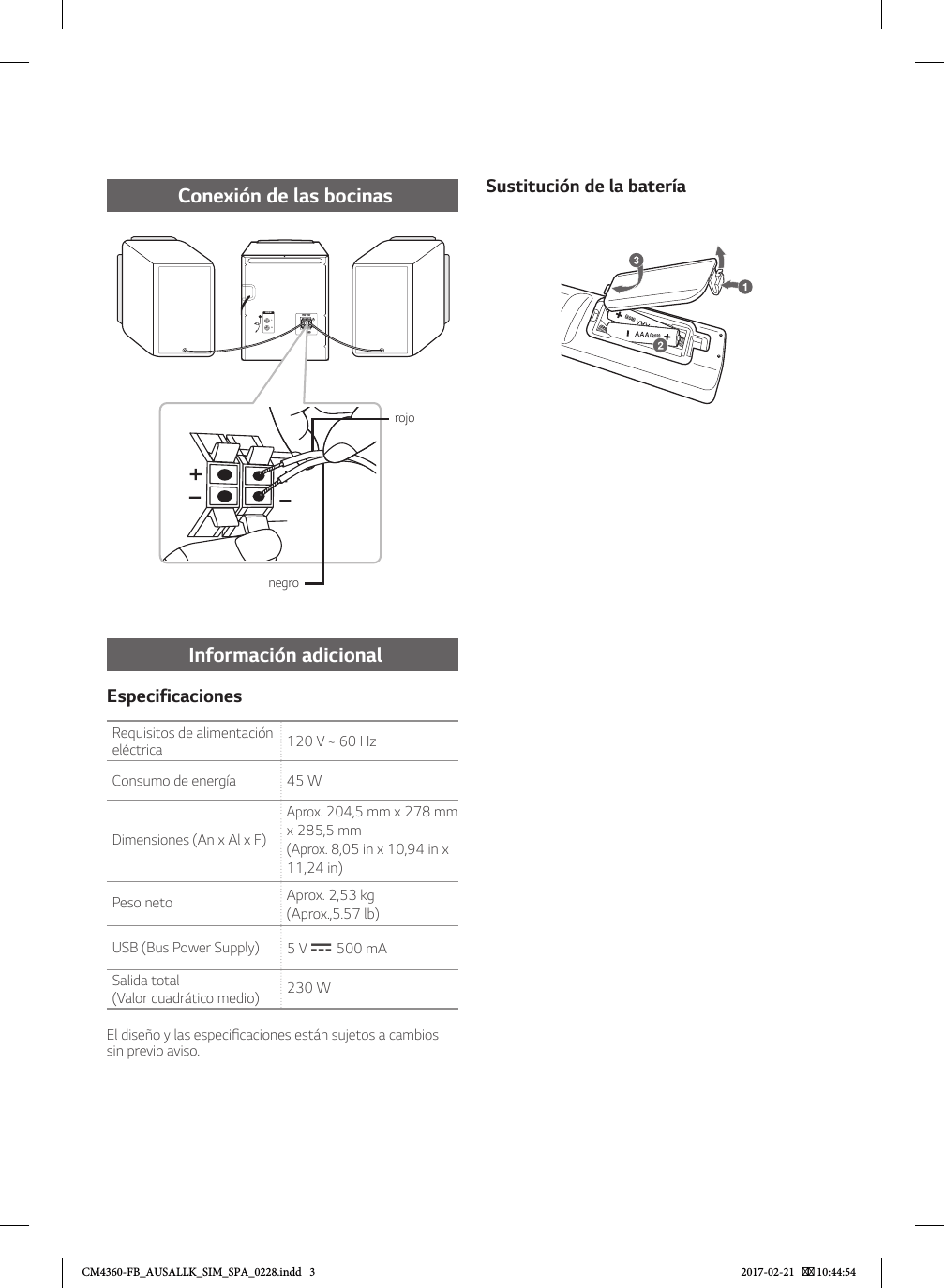 LG CM4360 User Manual Guide FB AUSALLK SIM SPA 0228