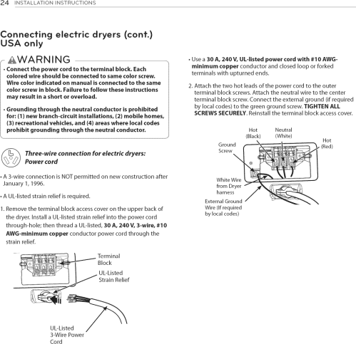 small resolution of dryer plug wiring green black and white