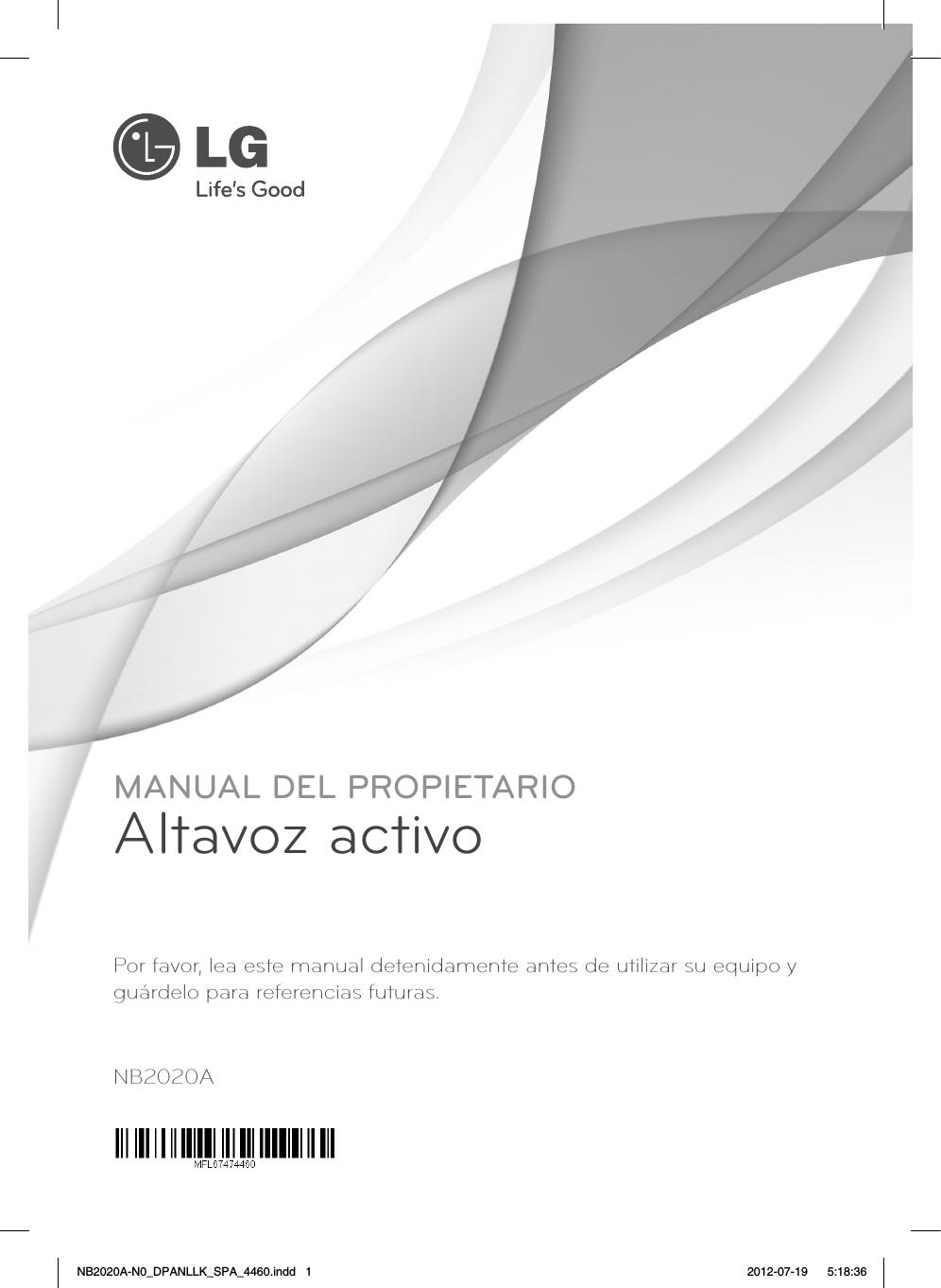 lg nb2020a manual