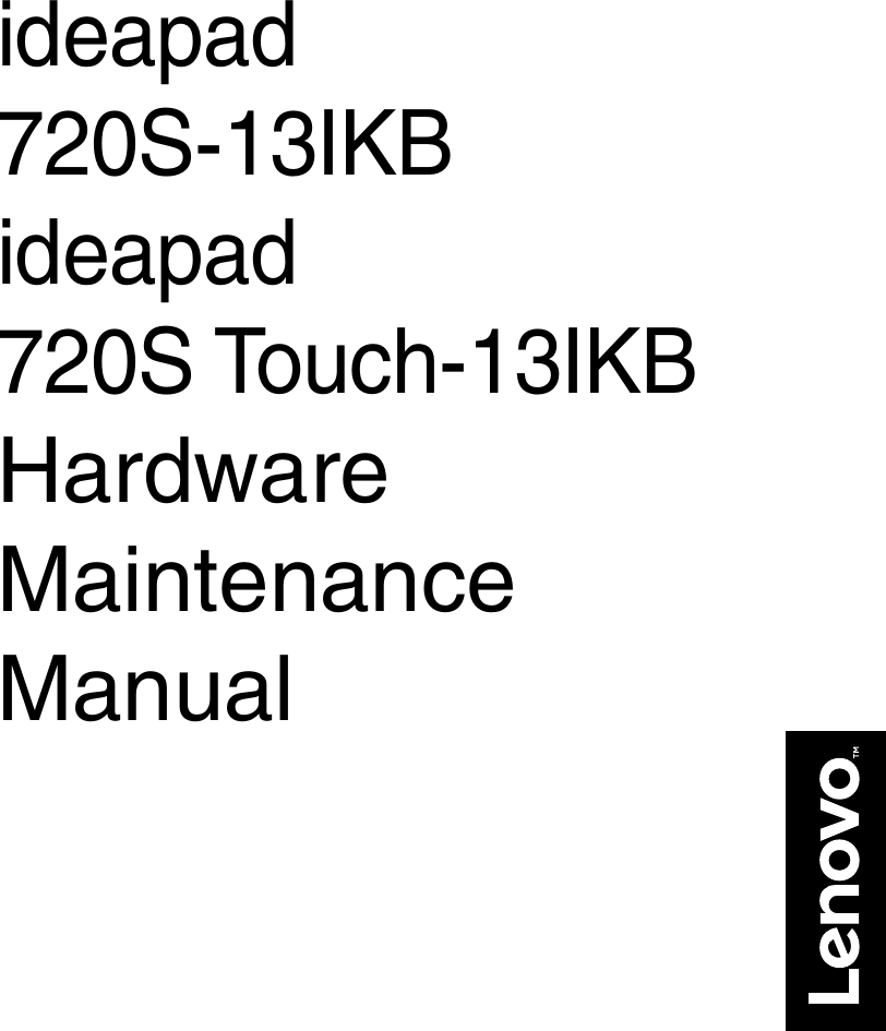 Lenovo 720S 13Ikb 720Stouch Hmm 201707 User Manual