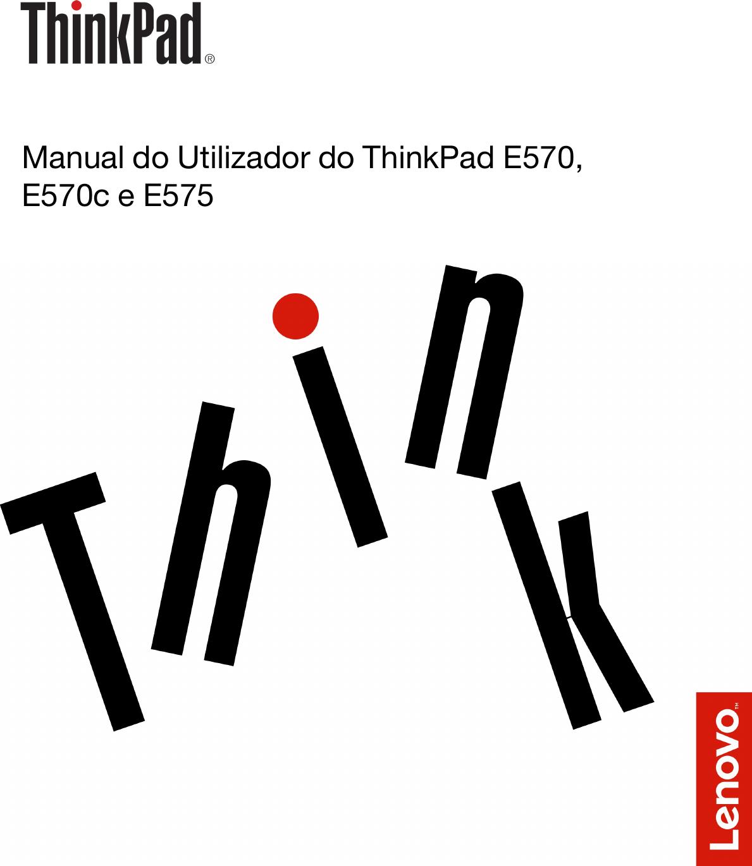 Lenovo E570 E570C E575 Ug Pt Manual Do Utilizador ThinkPad