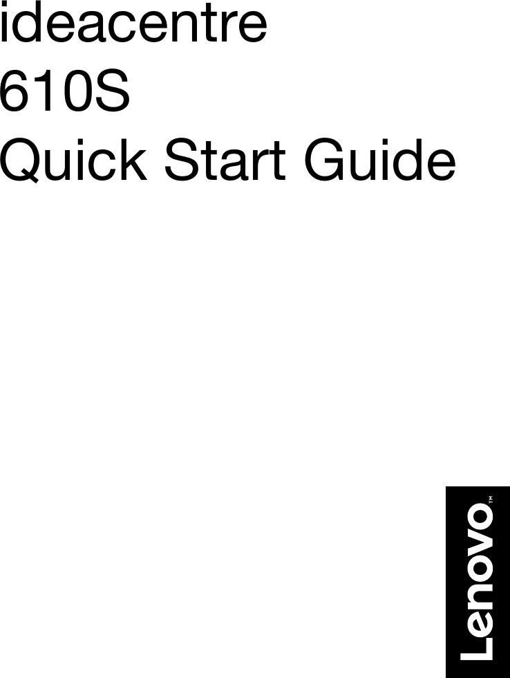 Lenovo Ic 610S Qsg V1.0 Win10 En Online 20160509