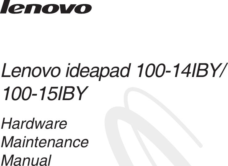 Lenovo Ideapad 100 14 15 Iby Hmm 201504 User Manual