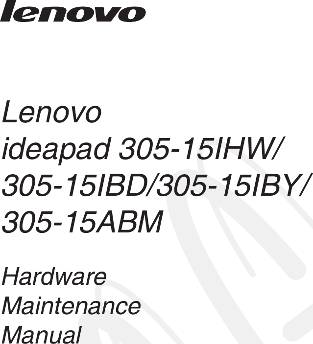 Lenovo Ideapad305 Hmm En Ideapad 305 User Manual Hardware