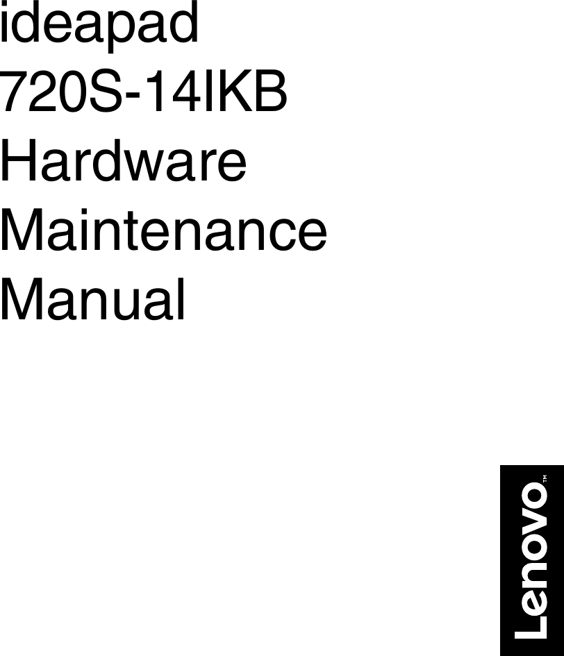 Lenovo Ideapad720S 14Ikb Hmm 201705 User Manual Hardware
