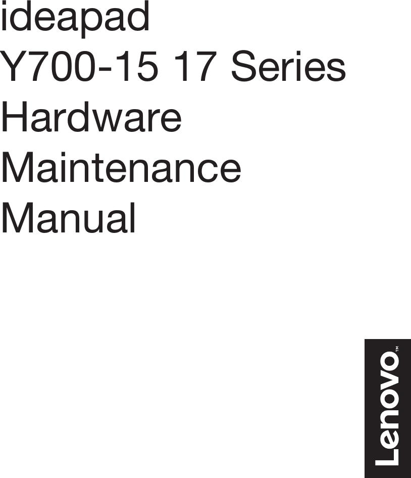 Lenovo Ideapad Y700 15 17Isk 15Acz Touch 15Isk Hmm 201510