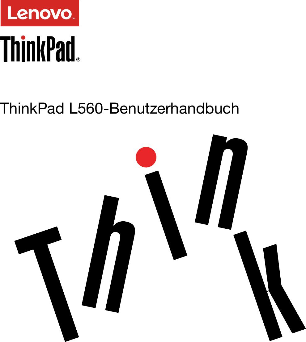 Lenovo L560 Ug De User Manual (German) Guide Think Pad