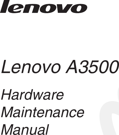 Lenovo A3500 Hmm En 20140303 HMM_EN User Manual (English