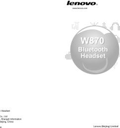 w870bluetoothheadsetw870bluetoothheadset user manualuser manualw870bluetooth headsetproduct name lenovo bluetooth headsetproduct model w870manufacturer  [ 1109 x 767 Pixel ]