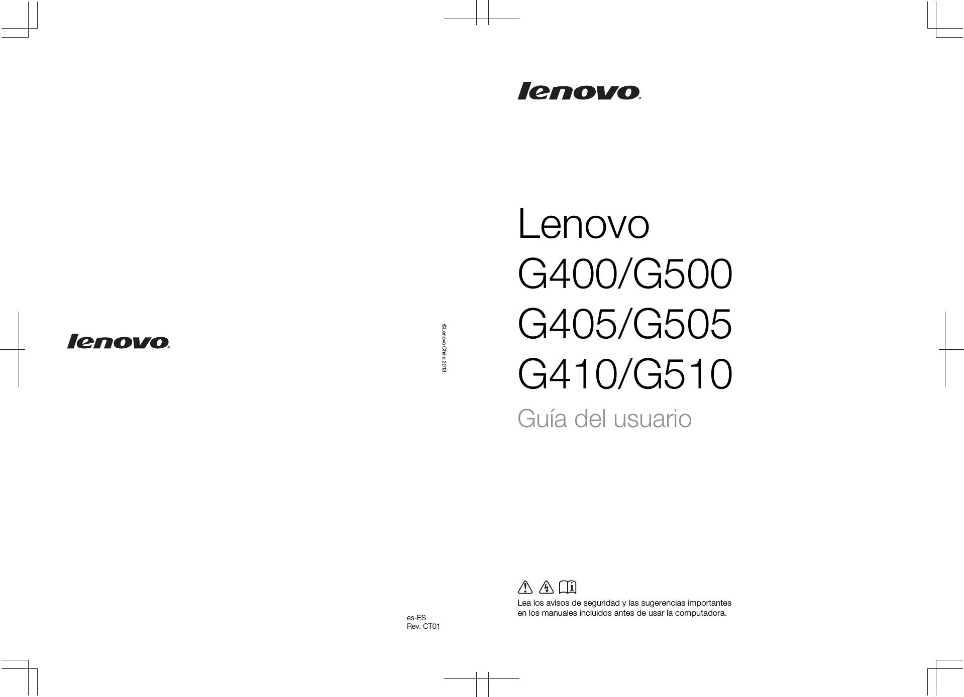 Lenovo G400G500G405G505G410G510 Ug Spanish W8.1 G400/G500