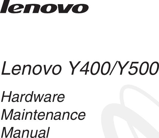 Lenovo Y400 Y500 Hmm User Manual Hardware Maintenance Y400