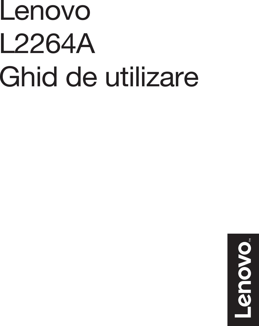 Lenovo Li2264D Ro V1.0 201603 User Manual (Romanian) Guide