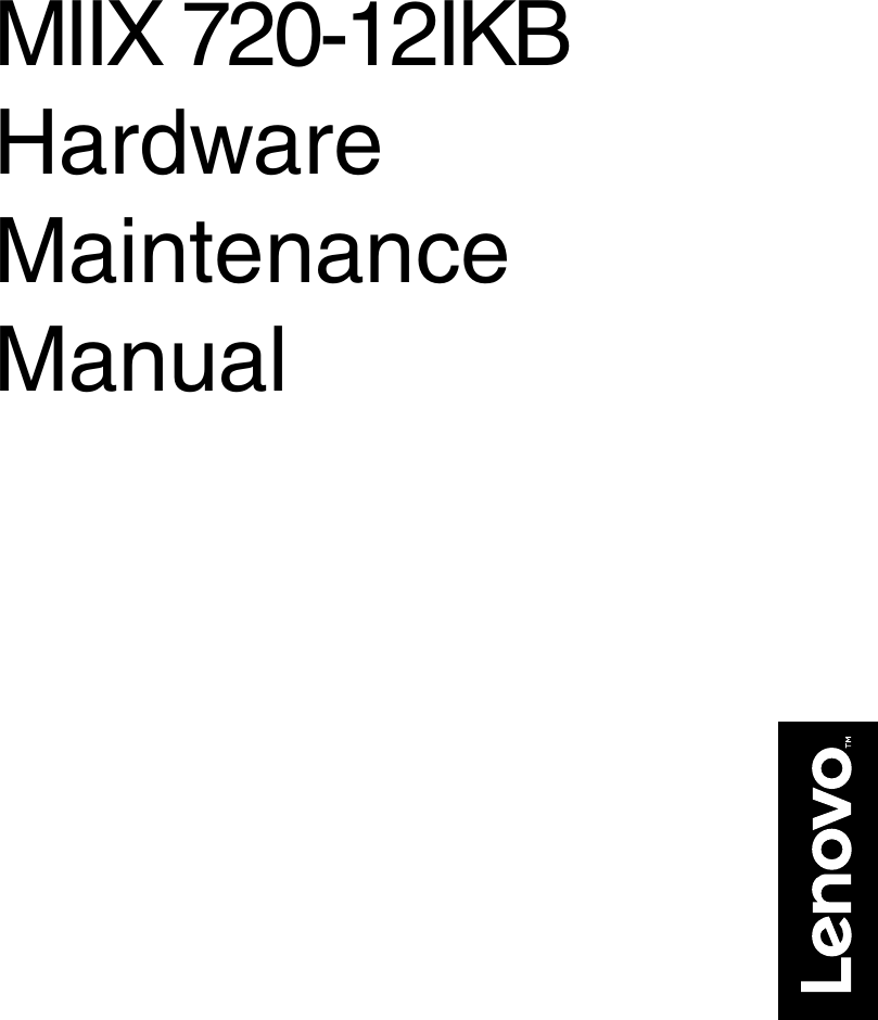 Lenovo Miix720 12Ikb Hmm 201611 User Manual Hardware