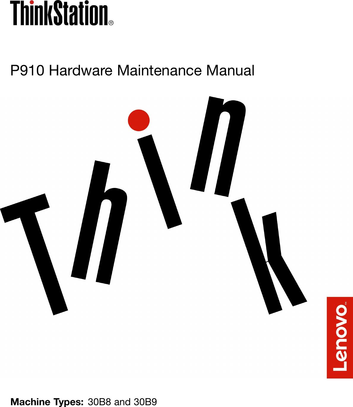 Lenovo P910 Hmm User Manual Hardware Maintenance (HMM