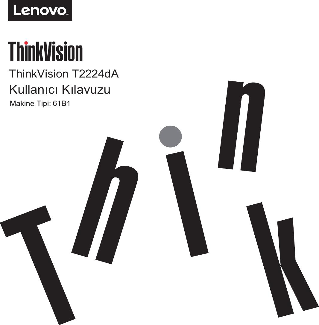 Lenovo T2224D 61B1 Usertur T2224d_Turkish User Manual