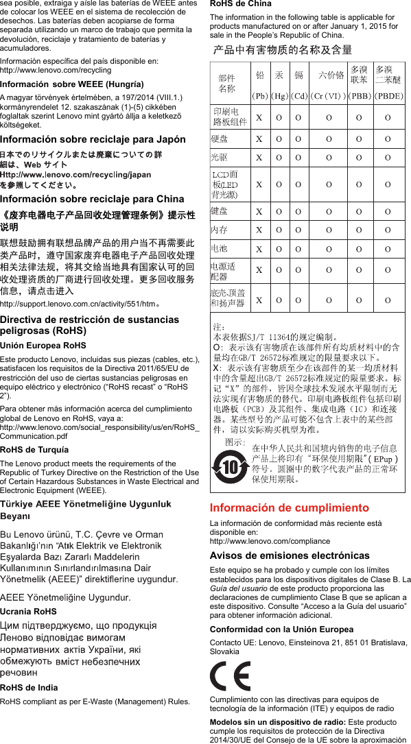 Lenovo X270 Swsg Es User Manual (Spanish) Safety, Warranty