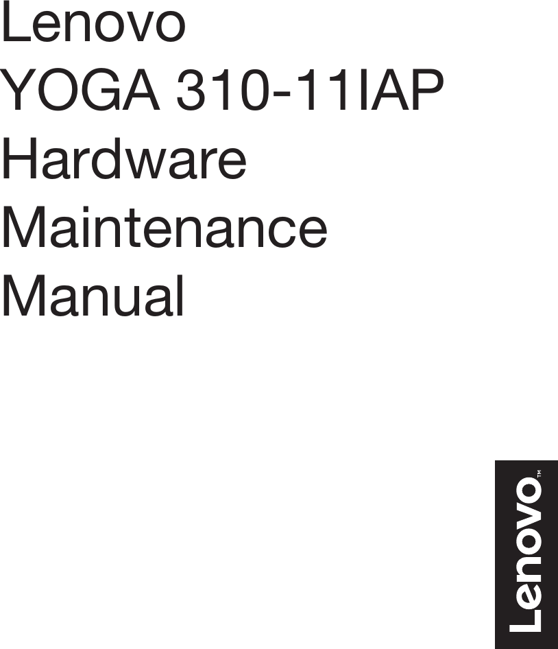 Lenovo Yoga 310 11Iap Hmm 201609 User Manual Hardware