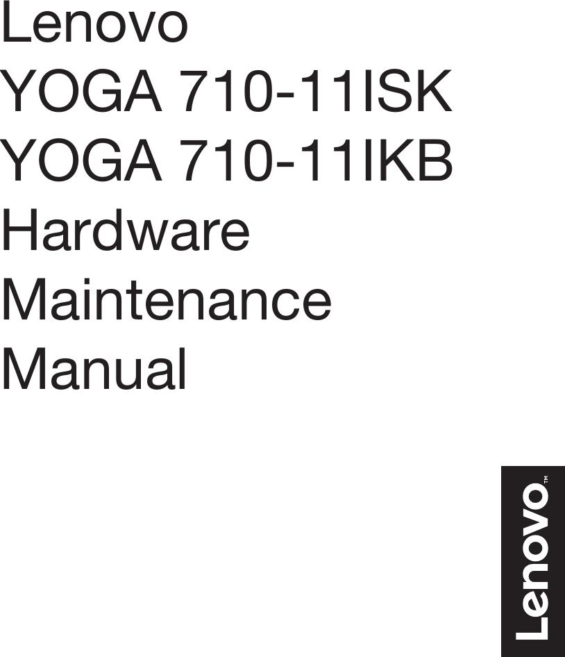 Lenovo Yoga 710 11Isk 11Ikb Hmm 201608 User Manual