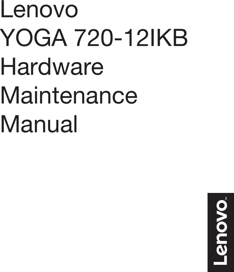 Lenovo Yoga720 12Ikb Hmm 201709 Yoga 720 12 IKB User