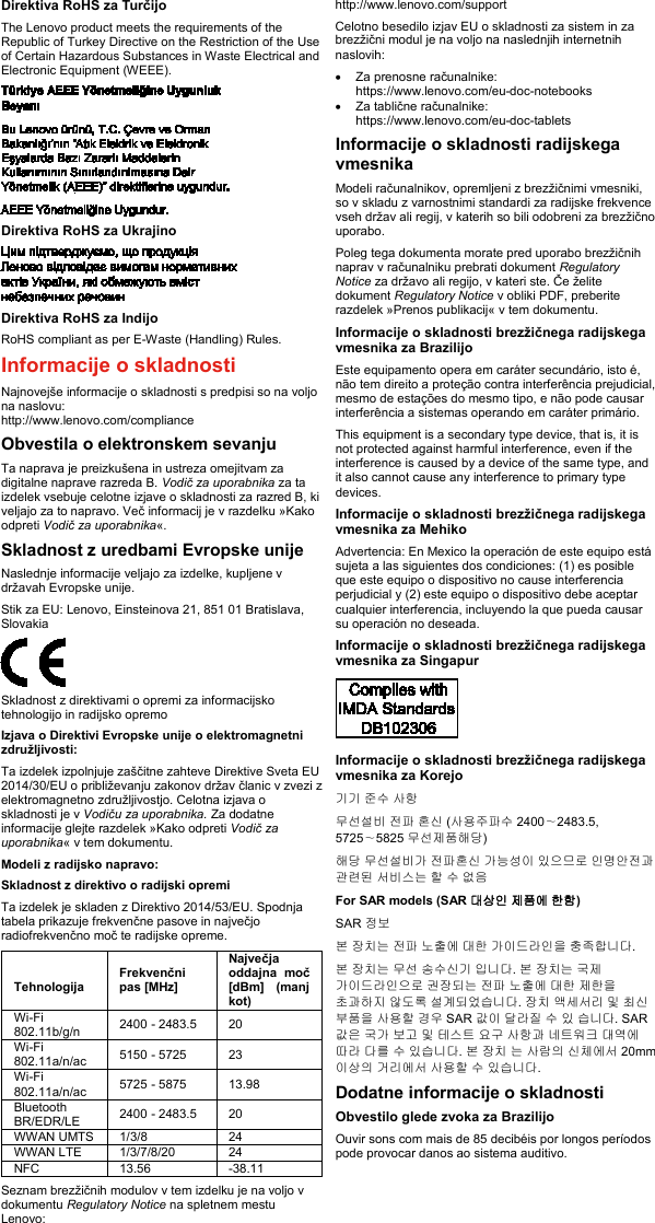 Lenovo (Slovenian) Safety, Warranty And Setup Guide Think