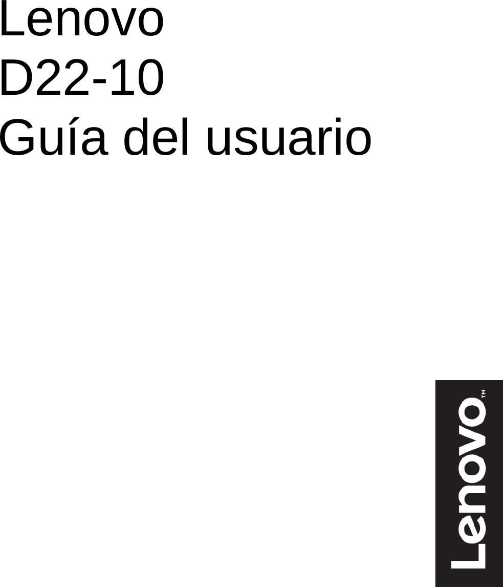 Lenovo Guía Del Usuario D22 10 Monitor Ug Es
