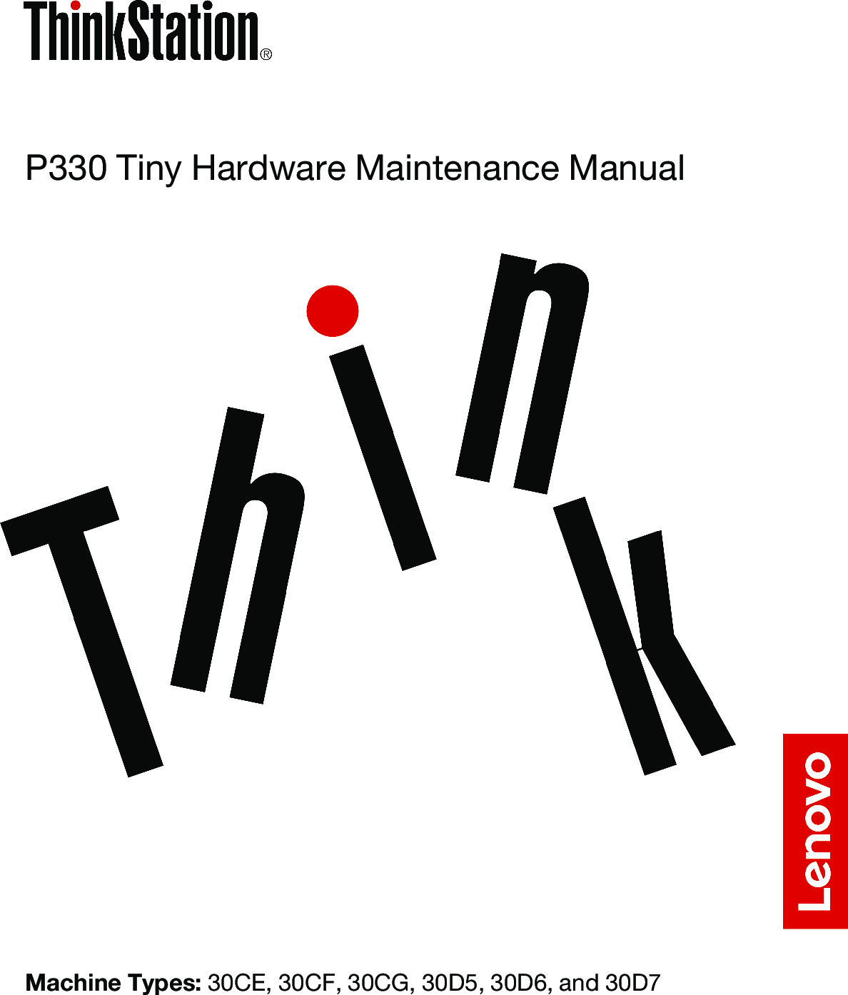 Lenovo P330 Tiny Hardware Maintenance Manual (English