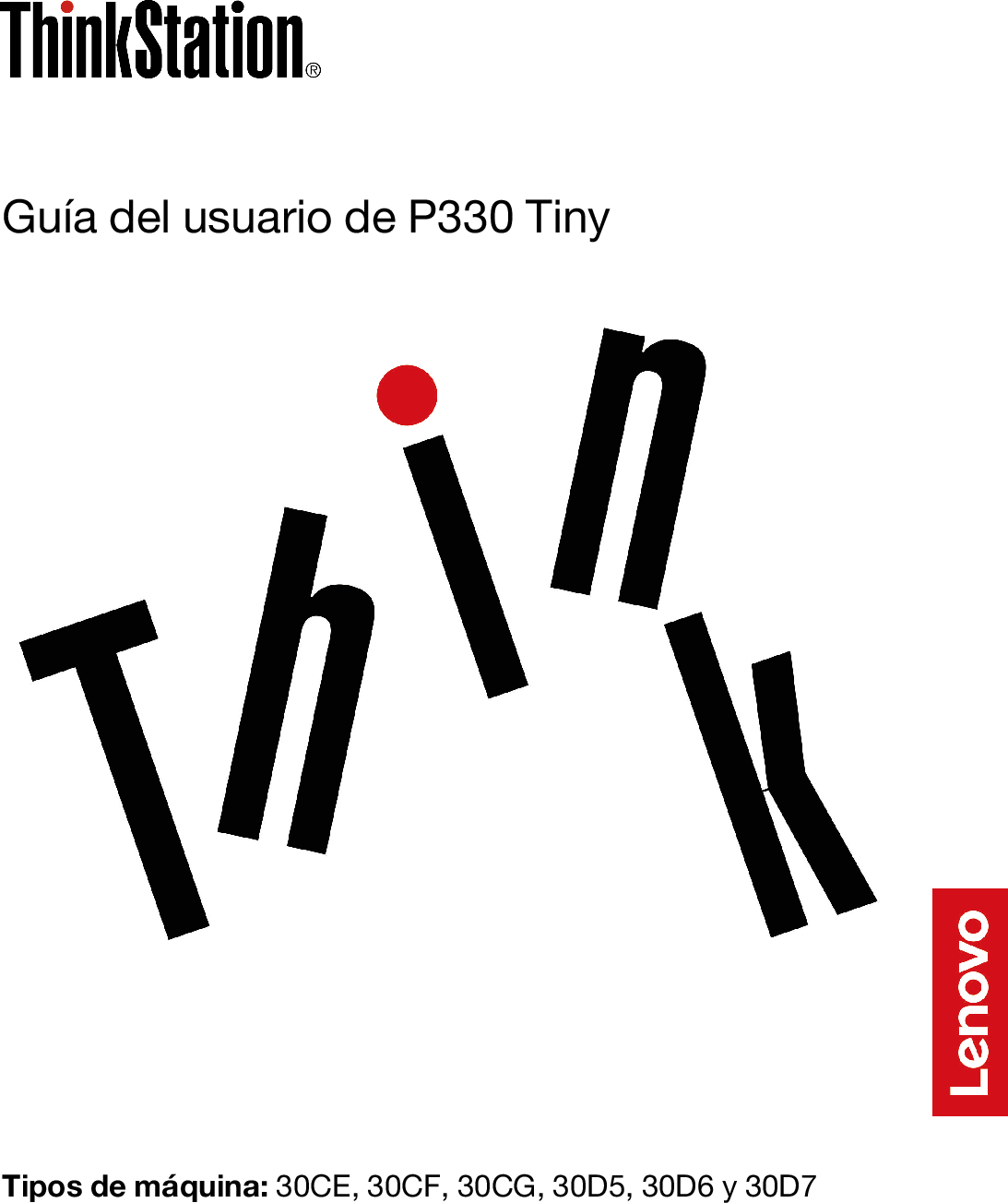 Lenovo Guía Del Usuario De P330 Tiny (Spanish) User Guide
