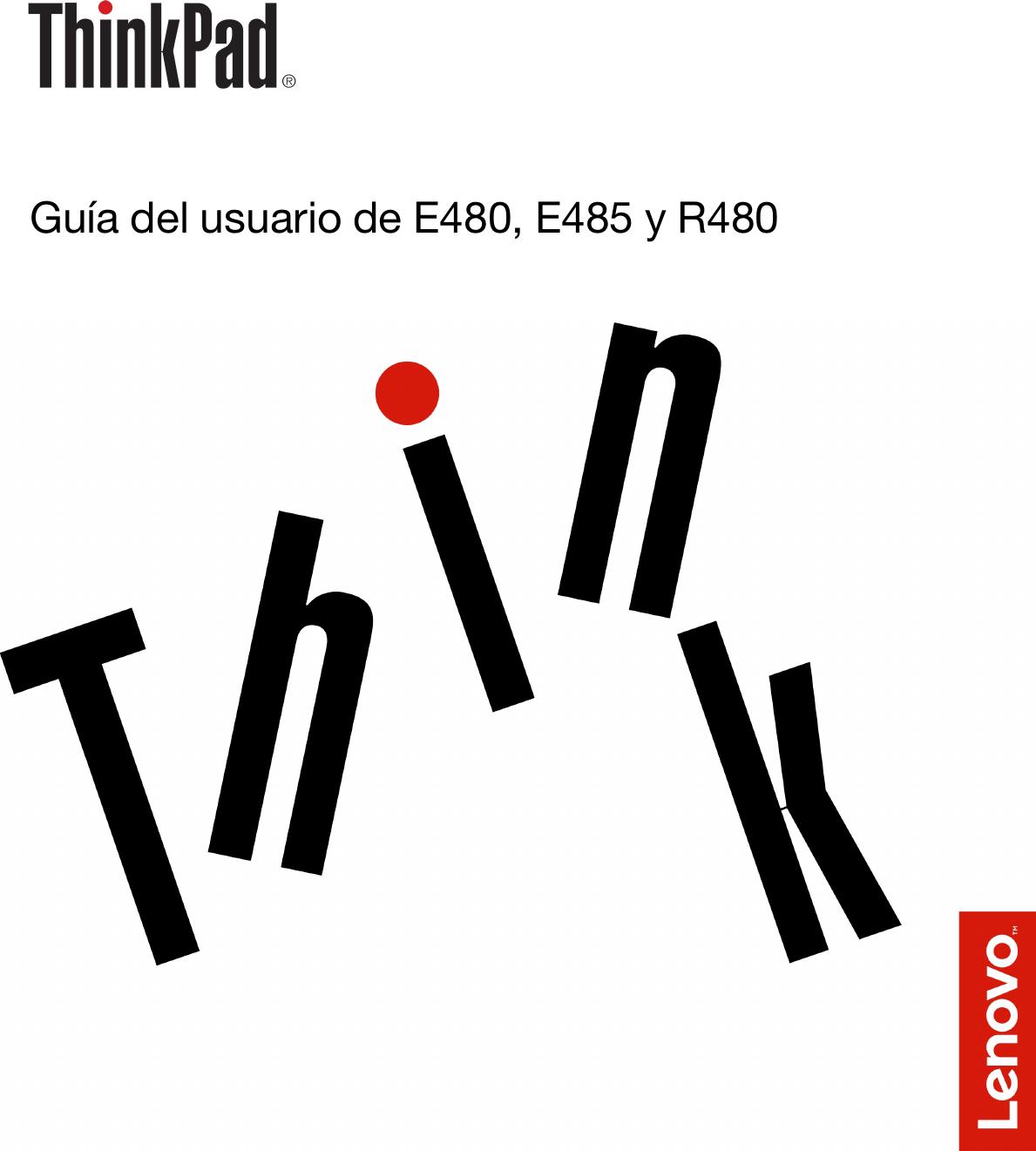 Lenovo Guía Del Usuario De E480, E485 Y R480 (Spanish