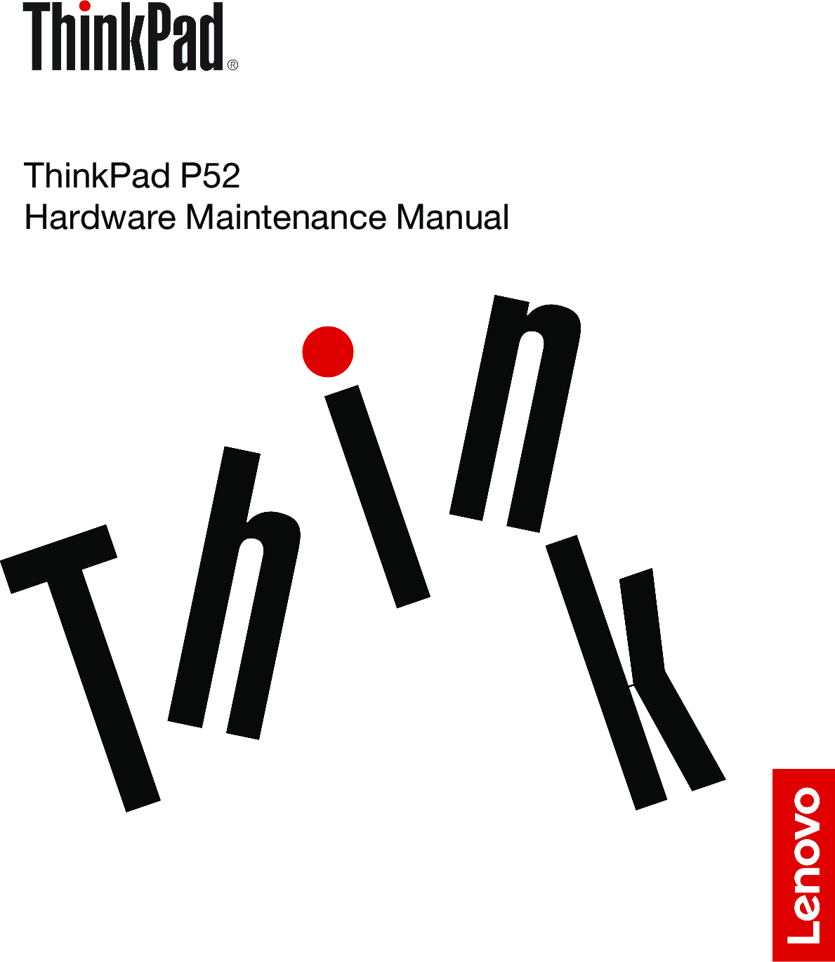 Lenovo ThinkPad P52 Hardware Maintenance Manual (English
