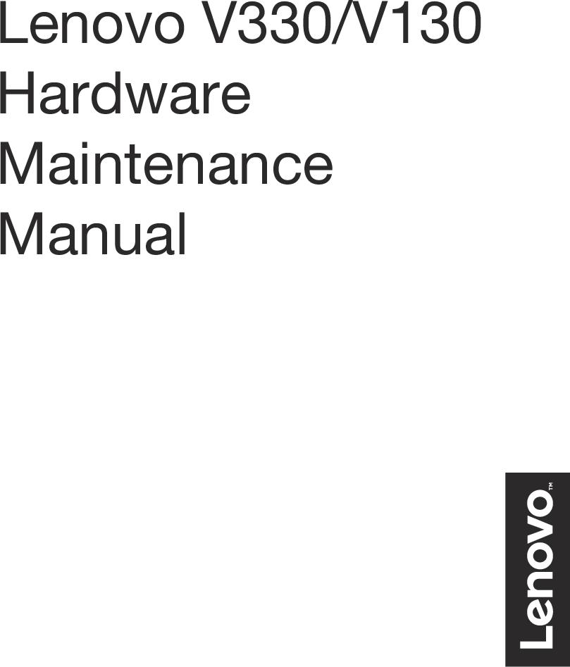 Lenovo V330 V130 HMM Hardware Maintenance Manual 15IKB