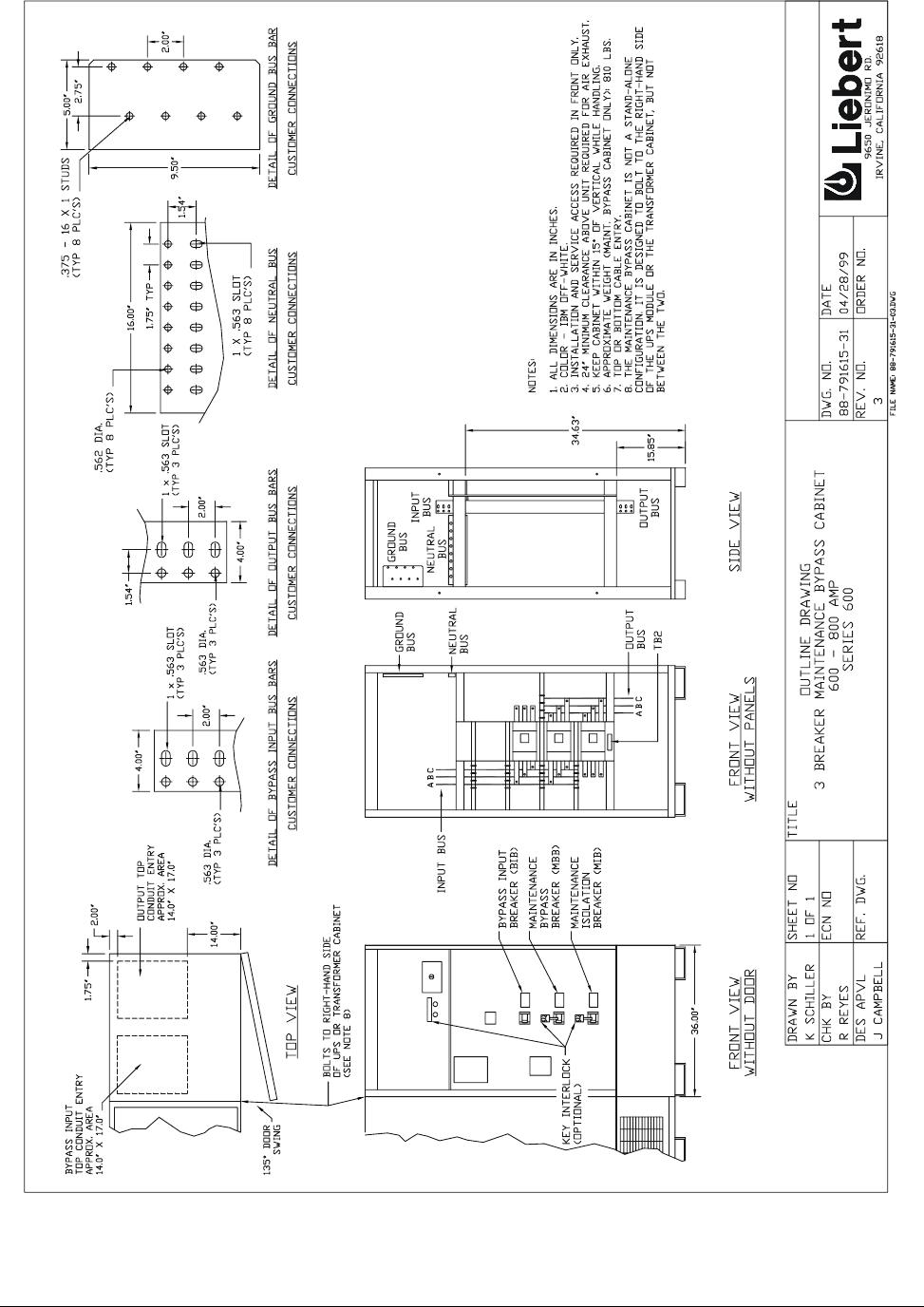 Liebert Series 600T Users Manual Insms225